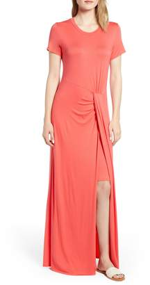 Caslon Front Gathered Maxi Dress