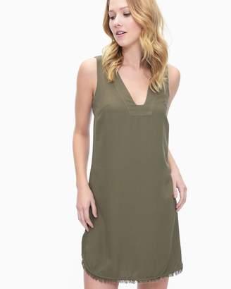 Splendid Crosshatch V-Neck Tunic Dress