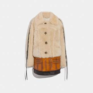 Coach Shearling Leather Coat