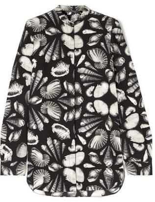 Alexander McQueen Printed Silk-crepe Blouse