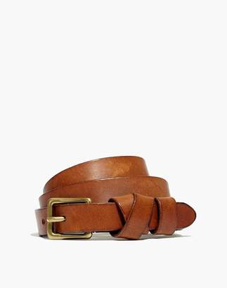 Madewell Leather Crisscross Skinny Belt