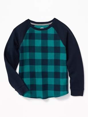 Old Navy Color-Blocked Thermal-Knit Raglan Tee for Boys