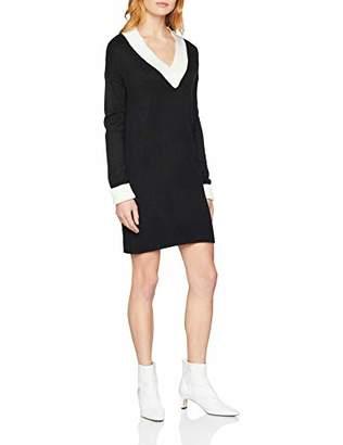 Mexx Women's Sweater, Schwarz (Marshmallow/Black 300109), Large