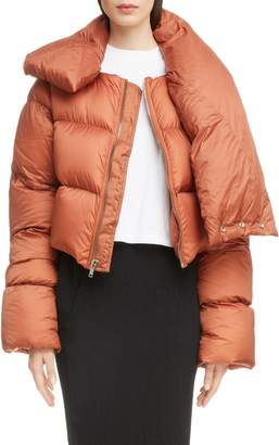 Rick Owens Down Fill Crop Puffer Coat