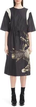 Dries Van Noten Placed Print Poplin Dress