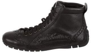 Louis Vuitton Embossed Logo High-Top Sneakers