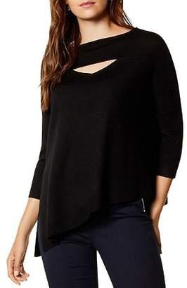 Karen Millen Asymmetric Cutout Wool Sweater
