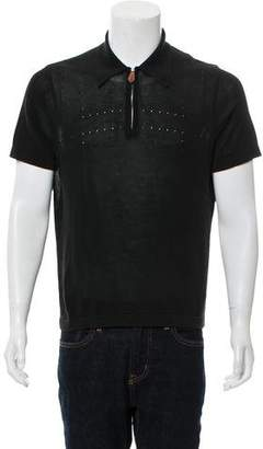 Hermes Zip-Up Short Sleeve Polo Shirt
