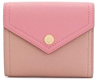 Miu Miu Two-tone Madras leather wallet