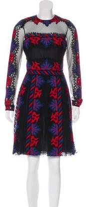 Valentino A-Line Embroidered Dress