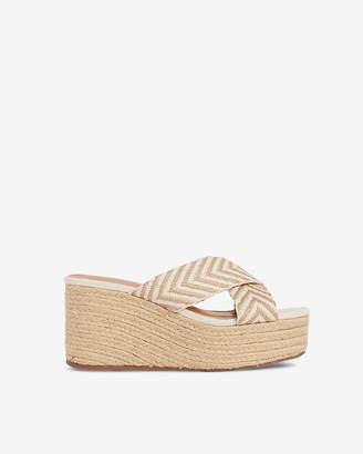 Express Crisscross Strap Wedge Sandals