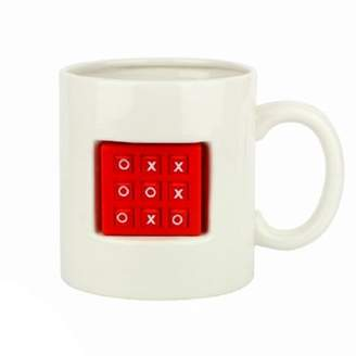 Thumbs Up Tic Tac Toe Mug, Ceramic, 590mL, (White & Red)