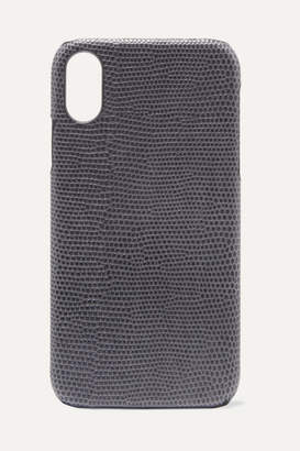 Factory The Case Lizard-effect Leather Iphone Xr Case - Gray