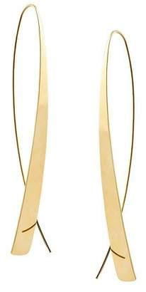 Lana Bond Large Narrow Glam Thread-Through Hoop Earrings