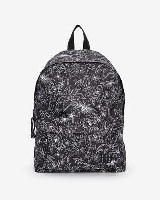 Express Black Floral Backpack
