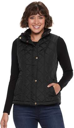 Women's Weathercast Faux-Fur Lined Quilted Vest