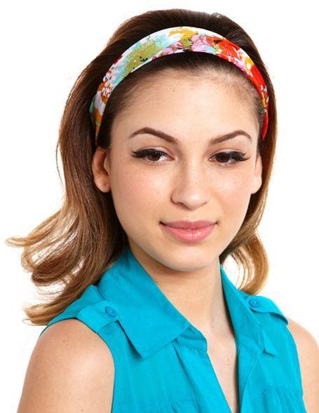 Charlotte Russe Floral Chiffon Headwrap