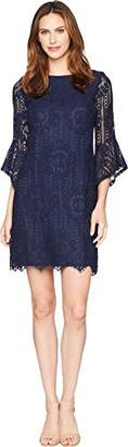 Sangria Women's Medallion Lace Shift Dress