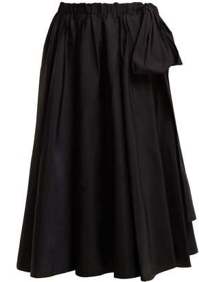 Prada Bow-detail midi skirt