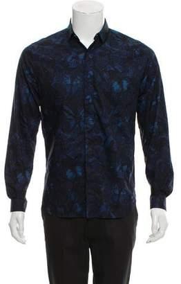 Valentino Butterfly Print Dress Shirt