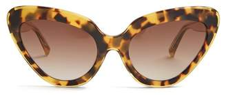 Linda Farrow Cat Eye Acetate Sunglasses - Womens - Tortoiseshell
