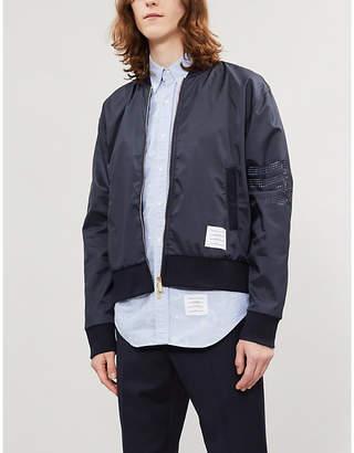 Thom Browne Anchor-pattern regular-fit cotton-twill shirt