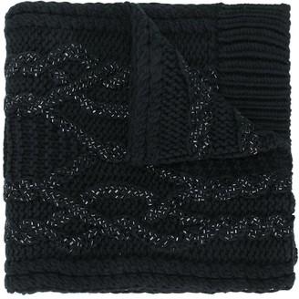 Ermanno Scervino crystal embellished chunky scarf