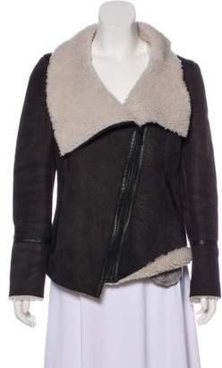 Karl Donoghue Asymmetrical Leather Jacket