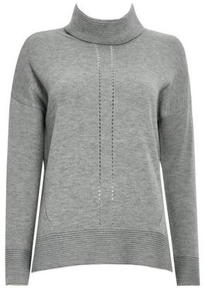 Wallis Grey Roll Neck Jumper