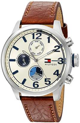 Tommy Hilfiger Men's Quartz Stainless Steel and Leather Casual Watch