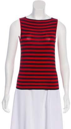 Armani Collezioni Sleeveless Striped Top
