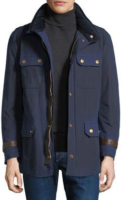 Stefano Ricci Men's Waxed Cotton Sport Jacket