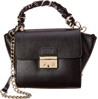 Castelli Massimo Emily Leather Shoulder Bag With Removable Scarf