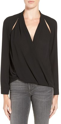 Women's Trouve Cutout Surplice Top $69 thestylecure.com