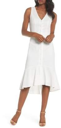 Chelsea28 Button Front Tie Back Cotton Dress