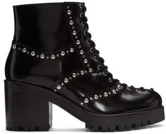 McQ Black Studded Hanna Boots