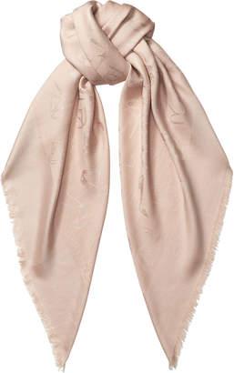 Jimmy Choo ANN H6S071480 Powder Pink Woven Jacquard Shawl