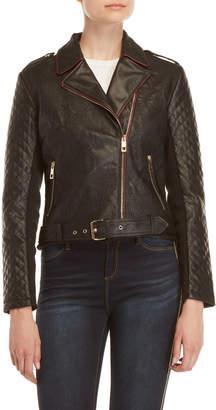 Desigual Black Asymmetrical Faux Leather Jacket