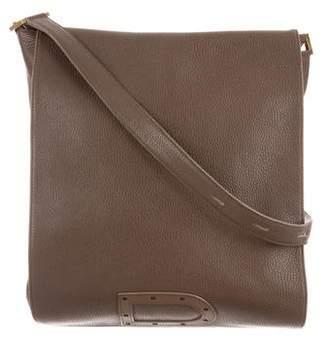 Delvaux Grained Leather Messenger Bag