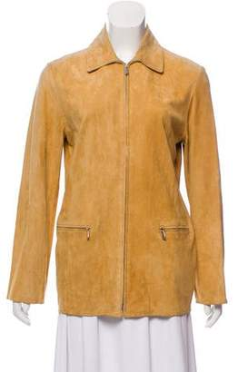Loro Piana Suede Pointed-Collar Jacket