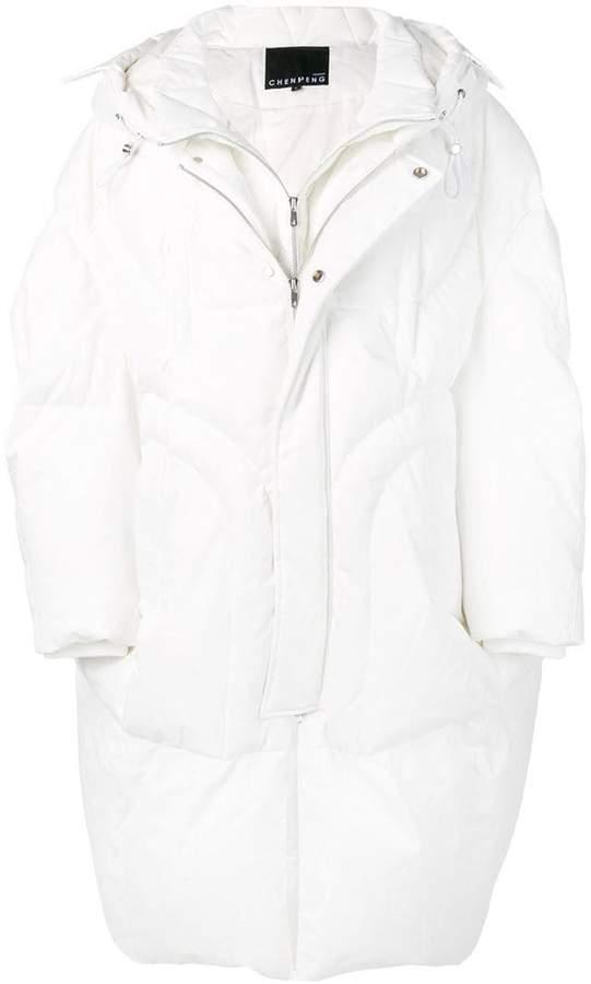 Chen Peng zipped padded coat
