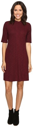 Christin Michaels Marietta Mock Neck Swing Dress $74 thestylecure.com