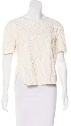 By Malene Birger Textured Short Sleeve Top