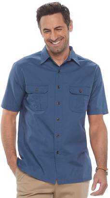 Croft & Barrow Men's Classic-Fit Crosshatch Button-Down Shirt
