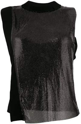 Paco Rabanne two-tone metallic top
