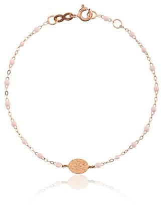 Gigi Clozeau 18k rose gold pink beaded bracelet