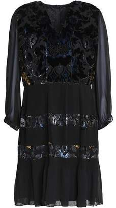Anna Sui Floral-Print Silk Mini Dress