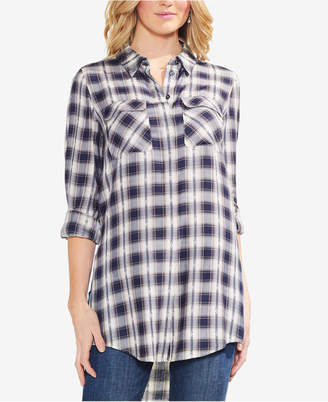 Vince Camuto High-Low Plaid Tunic