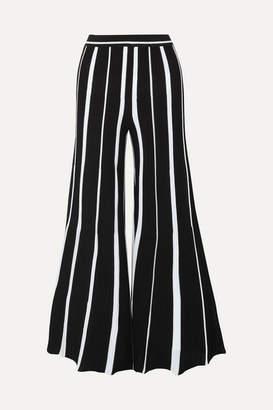 Missoni Striped Ribbed Cotton Wide-leg Pants - Black