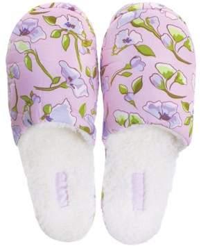 Spa Sister Floral Slippers, Lavender Garden
